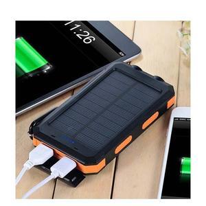 Solar Power Bank - 20000mAh - Black - Black