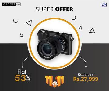 Samsung 21.6 MP AMOLED Display 3 inch Digital Camera - EV-NX210