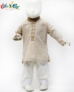 Fawn Embroidered Kurta Shalwar 2 pc for Boys