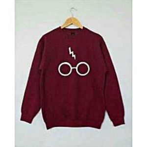 TJ FASHION Maroon Fleece Printed Sweatshirt Shirt For Unisex