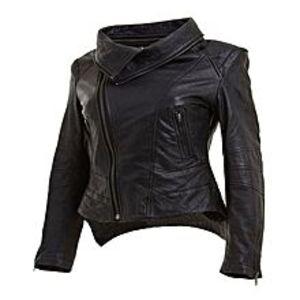 TASHCO ClothingBlack Leather Jacket For Women