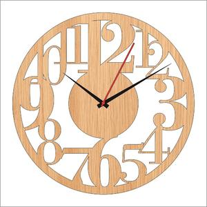 Wooden cutting wall clock laser cutting antique wall clock (104)