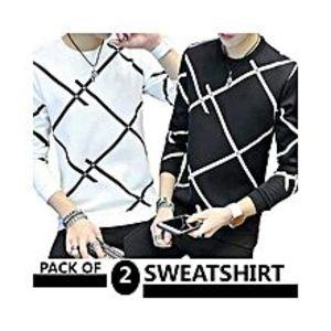 AybeezPack Of 2 Sweat Shirts For Men - ABZ-2279 S