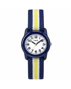 Timex White & Blue Fiber Analog Watch For Kids