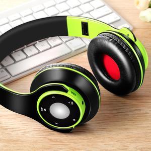 6715081e552 Wireless Bluetooth Foldable Headset Stereo Headphone Earphone for iPhone  Samsung Green