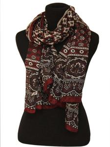 Multicolor Color Sindhi Ajrak Scraf ( Happy Winter )
