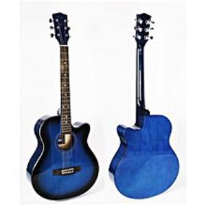 Forbes StoreBlue 40 inch cutaway linden body acoustic guitar