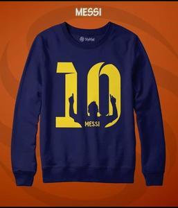 Blue Messi Printed Sweatshirt