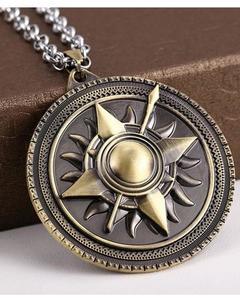 Game Of Thrones Sun Pendant-Metallic