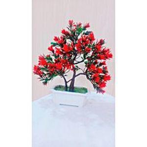 NS CollectionRed Bonsai Tree Decoration Piece