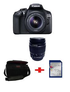 EOS - 1300D DSLR Camera - 18-55III - 16GB - Kitt Bag - Black