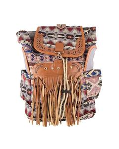 Stylish Brown Straps Backpack School Bag Notebook Bag Laptop Bag Travel Bag for School and College - Multicolour