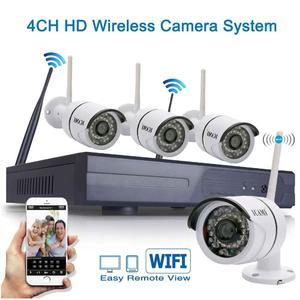 ICAMI CA-8004W - WIFI Security Kits - 4CH 720P WIFI Wireless NVR System - Home Surveillance - 4PCS Outdoor/indoor Wifi IP Cameras - Long Range