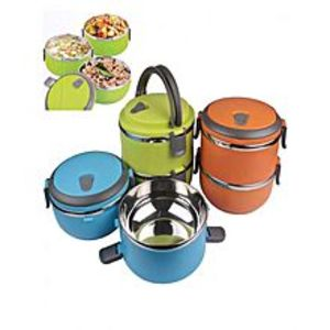 As seen on tvDouble Layer Stainless Steel Plastic Lunch Box