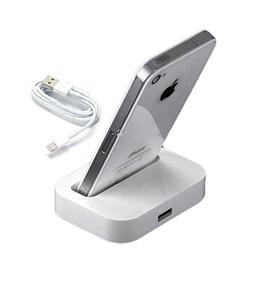 Charging Dock For Iphone 6 / Iphone 6S / Iphone 5C Charging Dock With Usb Cable - White