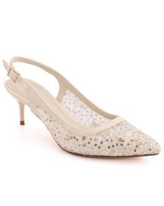 """JADE"" Pointed Toe Sling Buckle Strap Stiletto Heel Sandals L31278"