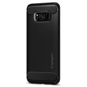 Rugged Armor Back Cover - Galaxy S8 Plus - Black
