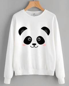 Panda Face Sweat Shirt For Her