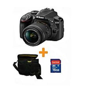 NikonD3400 - DSLR Camera -18-55- 16Gb Card - Kit bag - Black