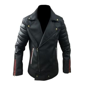 Mens Black Leather Jacket High Quality