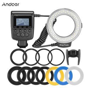 Andoer RF-550D Macro 48 LED Ring Flash Light LCD Display Power Control for Canon Nikon Pentax Olympus Panasonic Sony DSLR