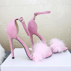 MissFortune Women's Ankle Strap High Heels Open Toe Sandals High Stiletto Pump Heel Sandals