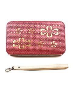 Pink PU Leather Clutch Wallet - IBW012