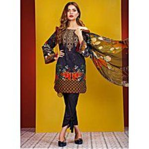 HyperZoneBlue Floret Embroidery Lawn UnStitched 3 Piece Suit