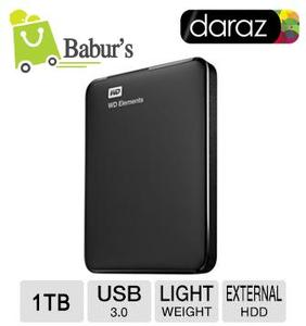 WD - 1TB Portable External Hard Drive - USB 3.0 by Baburs Daraz