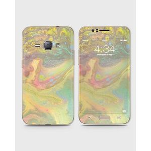 Samsung Galaxy J1 2015 (J100) Skin Wrap With Front Back And Sides Pale Green Texture-1wall613