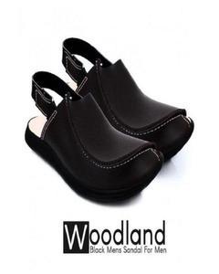Black Traditional Peshawari Sandals for Men