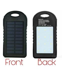 Charge with Solar Energy … 5000 mAh Fast Power Bank Portable with Bright LED Lights