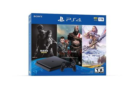 PlayStation 4 Slim 1TB Console 3 Game Bundle God of War, Last Of Us Remastered, Horizon Zero Dawn Complete Edition