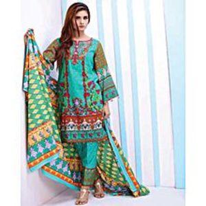 Al Zohaib TextileSky Blue Lawn Unstitched Suit For Women - 3 Piece