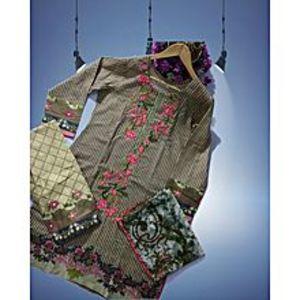 Skin Floret Pink Unstitched Suit For Women - 3 Pcs