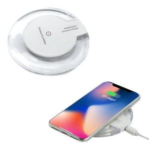Imported Fantasy 2.0 Ampere Universal Qi Crystal Fast Wireless Charger Samsung Wireless Charger Supported Samsung Galaxy Note Iphone Huawei Oppo Android Mobile Wireless Charger Mobile Gadgets (White)