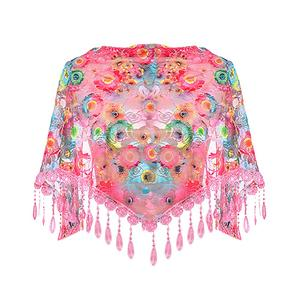 BlingBlingStar Fashion Women Tassel Scarf Lace Scaves Shawl Printed Wraps Scarf