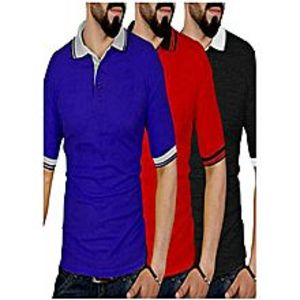TJ FASHION Pack Of 3 Polo T-shirts For Men
