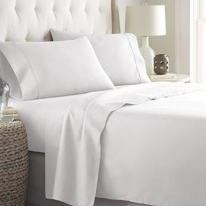 Aveesha Textiles Solid Color 200 Thread Count Cotton Percale Luxury Bed Sheet set