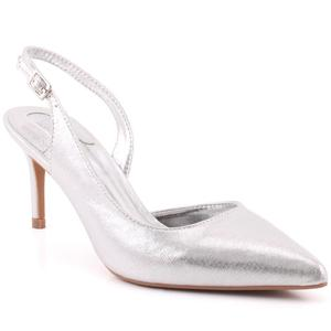 "Women ""Cherry"" Shimmery Pointy Toe Sling Back Stiletto Heel Sandals  L31718"