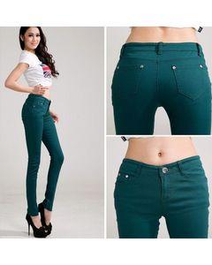 The Ajmery Womens Dark Green Skinny Jeans - BB-00027