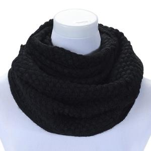 FashionieStore Woman's scarf Women Winter Warm Infinity 2 Circle Cable Knit Cowl Neck Long Scarf Shawl KH