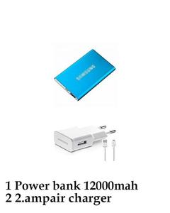Lithium Ultra Slim 12000Mah Power Bank With 2Amp Charger