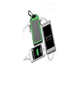 Solar And Electric Power Bank Waterproof - 10000mAh - Green