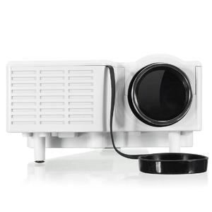 HD 1080P Mini Portable Home Cinema Theater Projector White US Plus