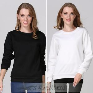 Pack of 2 - Black & White Plain Sweatshirts For Women