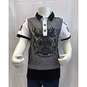 Tiny TodsWhite Premium Quality Imported Polo Shirt For Boys