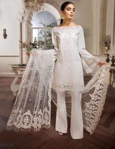 Heavy Embroidered Designer Chiffon Un-Stitched Dress for Women | Delivery Goods