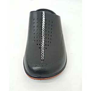 Zameendar Black Rubber Slippers for Men