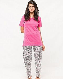 AEYS - Pack Of 2 - Pink Shirt & Trouser Nightwear Suit For Women